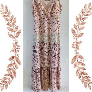 Xhilaration XXL maxi dress pink boho floral